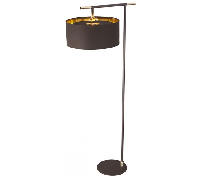 Balance Gulvlampe H161,6 cm 1 x E27 – Brun/Poleret messing fra Elstead Lighting