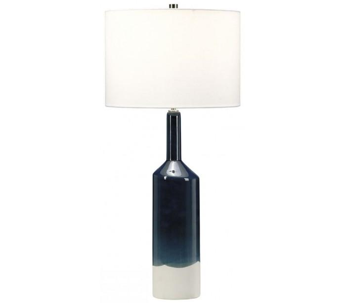 Image of   Bayswater Bordlampe H78,5 cm 1 x E27 - Blå/Hvid