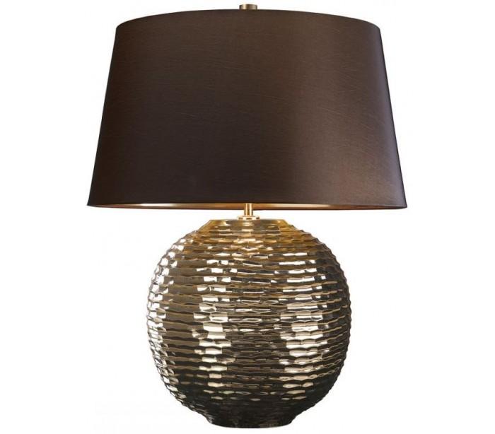 Image of   Caesar Bordlampe H55 cm 1 x E27 - Patineret guld/Brun