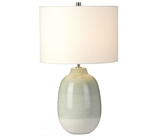 Chelsfield Bordlampe H61 cm 1 x E27 - Lysegrøn/Hvid