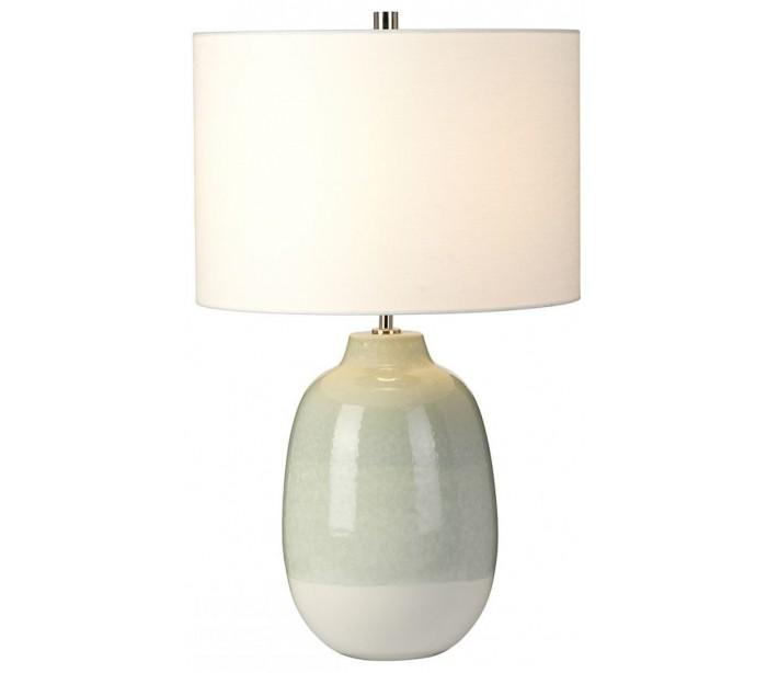 Image of   Chelsfield Bordlampe H61 cm 1 x E27 - Lysegrøn/Hvid