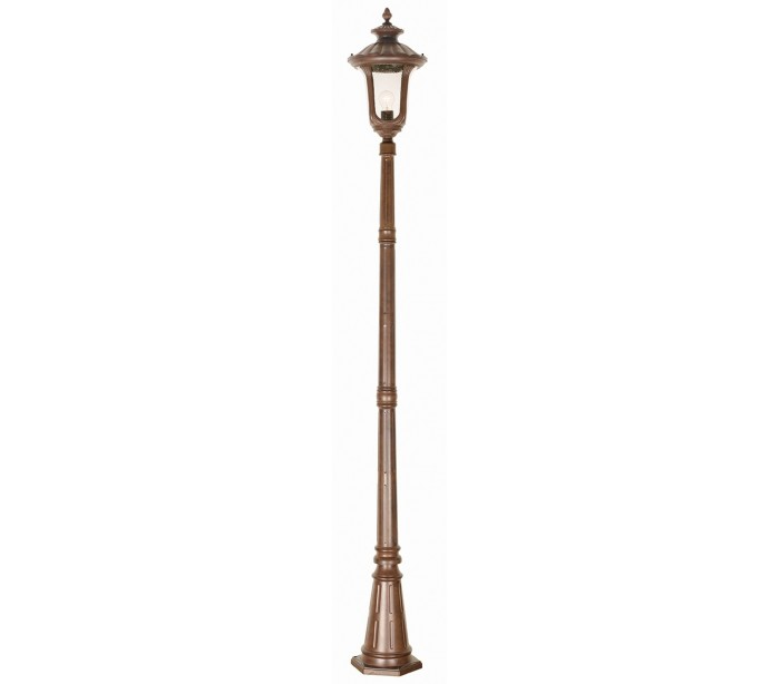 Image of   Chicago Havelampe H246,5 cm 1 x E27 - Patineret rust bronze