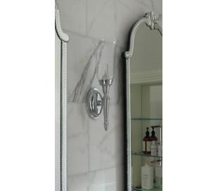 Dryden Badeværelseslampe i messing og glas H41 cm 1 x G9 LED - Poleret krom/Klar