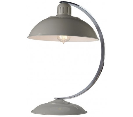 Franklin Bordlampe H46 cm 1 x E27 - Grå/Krom
