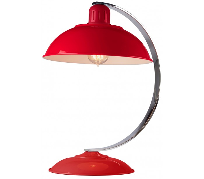 Image of   Franklin Bordlampe H46 cm 1 x E27 - Rød/Krom