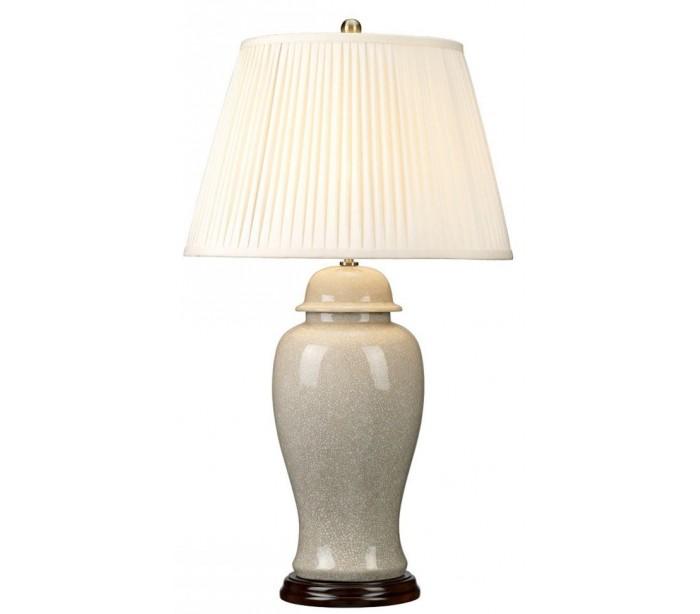 elstead lighting – Ivory crackle bordlampe h81 cm 1 x e27 - krakeleret elfenbenshvid/creme fra lepong.dk