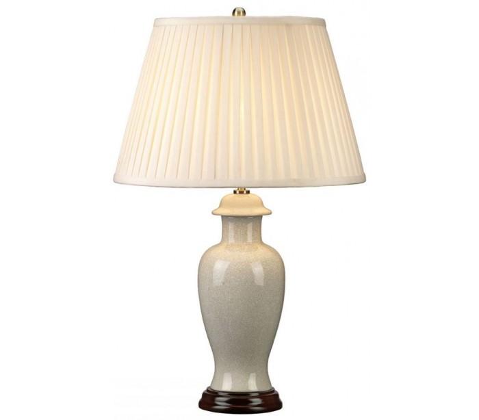 elstead lighting Ivory crackle bordlampe h66 cm 1 x e27 - krakeleret elfenbenshvid/creme på lepong.dk