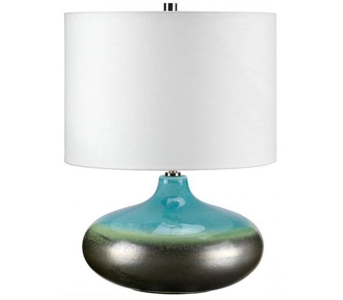 elstead lighting Lagun bordlampe h48 cm 1 x e27 - turkisgrå/creme fra lepong.dk