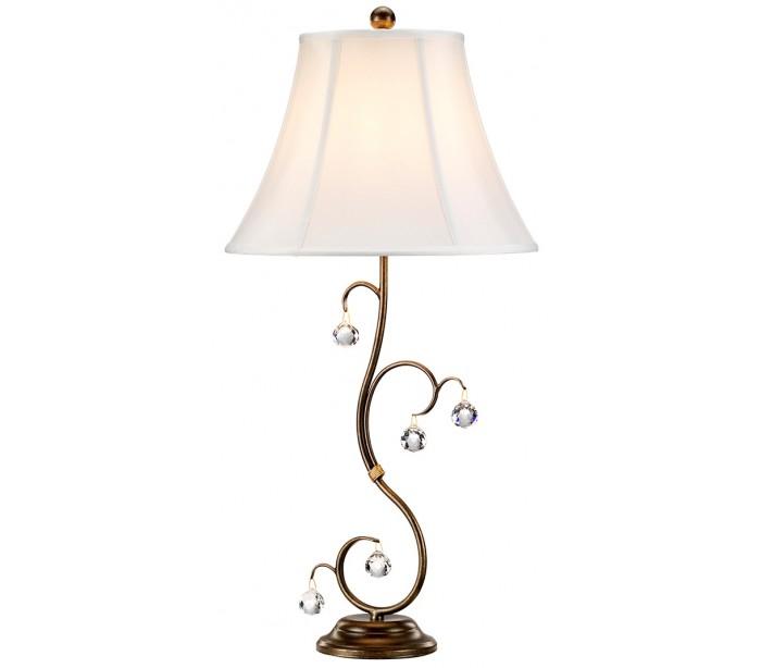 lunetta bordlampe h69 cm 1 x e27 - patineret bronze/creme fra elstead lighting