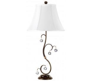 Lunetta Bordlampe H69 cm 1 x E27 - Patineret bronze/Creme