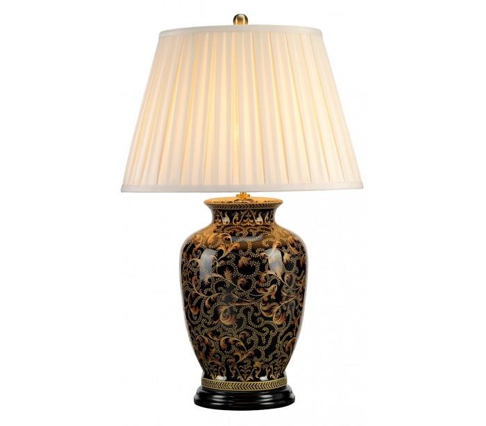 elstead lighting – Morris bordlampe h74 cm 1 x e27 - sortguld/creme fra lepong.dk