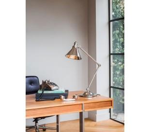 Provence Bordlampe H66 cm 1 x E27 - Poleret nikkel
