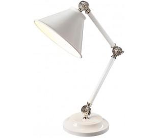 Provence Bordlampe H52,3 cm 1 x E27 - Hvid/Poleret nikkel