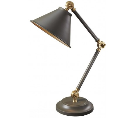 Provence Bordlampe H52,3 cm 1 x E27 - Antik mørkegrå/Antik messing