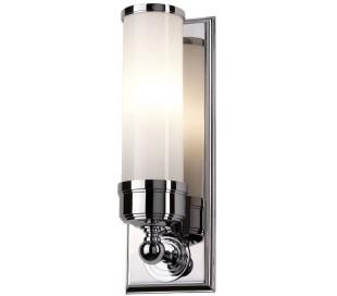 Worcester Badeværelseslampe i stål og glas H36,5 cm 1 x G9 LED - Poleret krom/Hvid
