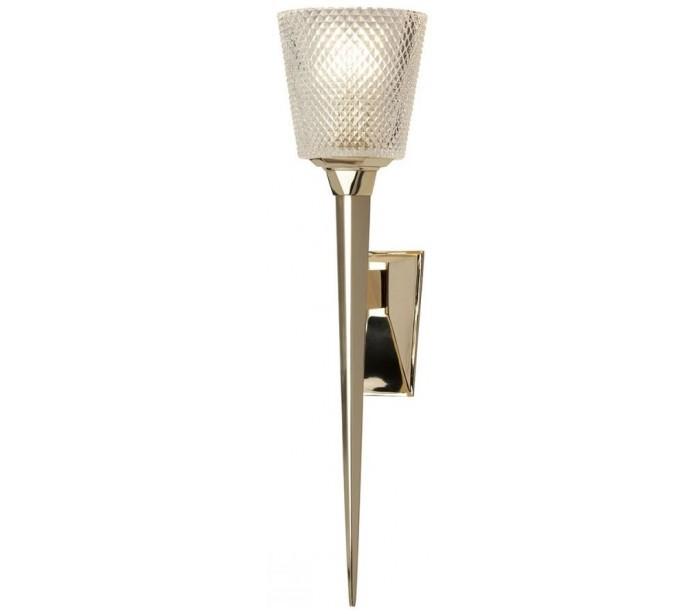 elstead lighting Verity badeværelseslampe i messing og glas h50,6 cm 1 x g9 led - poleret guld/klar på lepong.dk