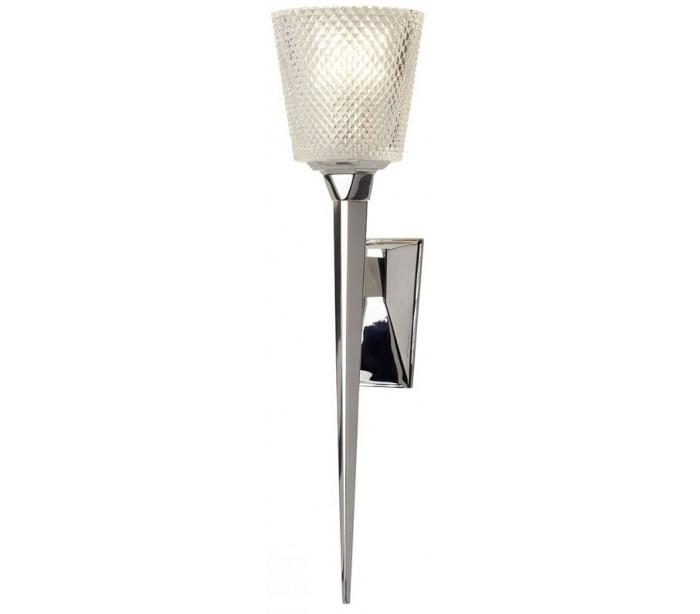 Verity Badeværelseslampe i messing og glas H50,6 cm 1 x G9 LED – Poleret krom/Klar fra Elstead Lighting