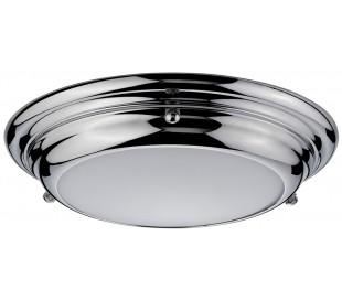 Welland Badeværelseslampe i stål og glas Ø24,5 cm 1 x LED - Poleret krom