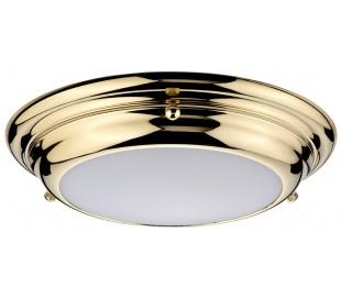 Welland Badeværelseslampe i stål og glas Ø24,5 cm 1 x LED - Poleret messing