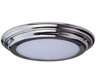 Welland Badeværelseslampe i stål og glas Ø36,1 cm 1 x LED - Poleret krom
