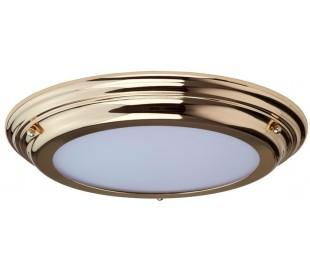 Welland Badeværelseslampe i stål og glas Ø36,1 cm 1 x LED - Poleret messing