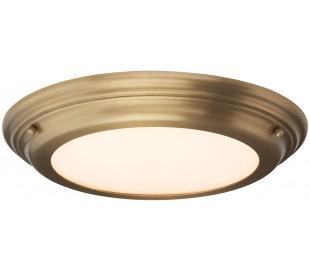 Welland Badeværelseslampe i stål og glas Ø36,1 cm 1 x LED - Aldret messing