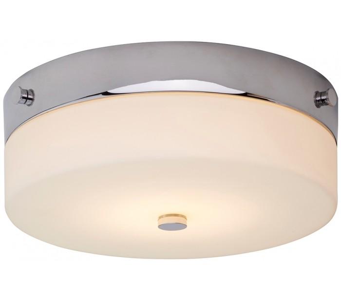 Tamar Badeværelseslampe i stål og glas Ø23,5 cm 1 x GX53 LED - Poleret krom