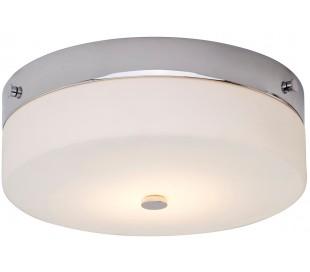 Tamar Badeværelseslampe i stål og glas Ø29 cm 1 x GX53 LED - Poleret krom