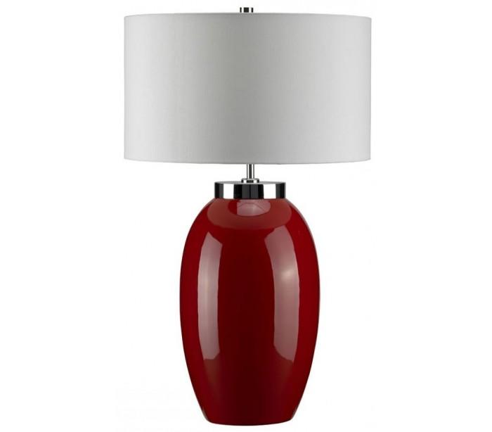 elstead lighting Victor bordlampe h70 cm 1 x e27 - rød/creme på lepong.dk
