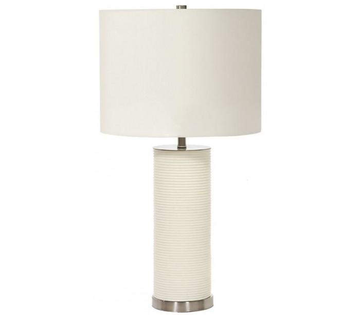 Ripple bordlampe h65 cm 1 x e27 - hvid fra elstead lighting fra lepong.dk