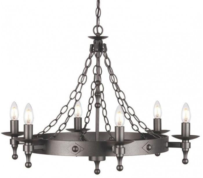 elstead lighting – Warwick lysekrone ø74 cm 6 x e14 - granit sort fra lepong.dk