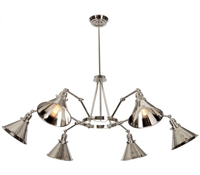 elstead lighting Provence lysekrone ø50 - 141 cm 6 x e27 - poleret nikkel fra lepong.dk