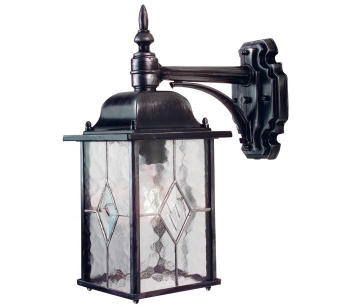 faro barcelona Wexford væglampe h37 cm 1 x e27 - patineret sortsølv på lepong.dk