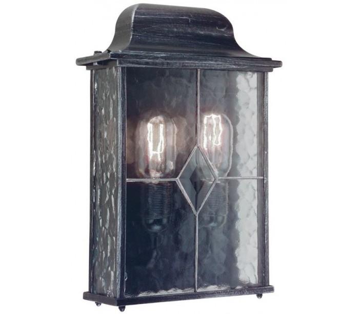 endon lighting Wexford væglampe h33,8 cm 2 x e27 - patineret sortsølv fra lepong.dk