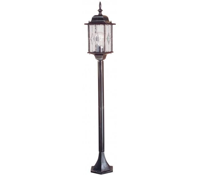 elstead lighting – Wexford havelampe h123,5 cm 1 x e27 - patineret sortsølv fra lepong.dk