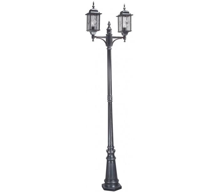 Wexford havelampe h228,5 cm 2 x e27 - patineret sortsølv fra elstead lighting fra lepong.dk