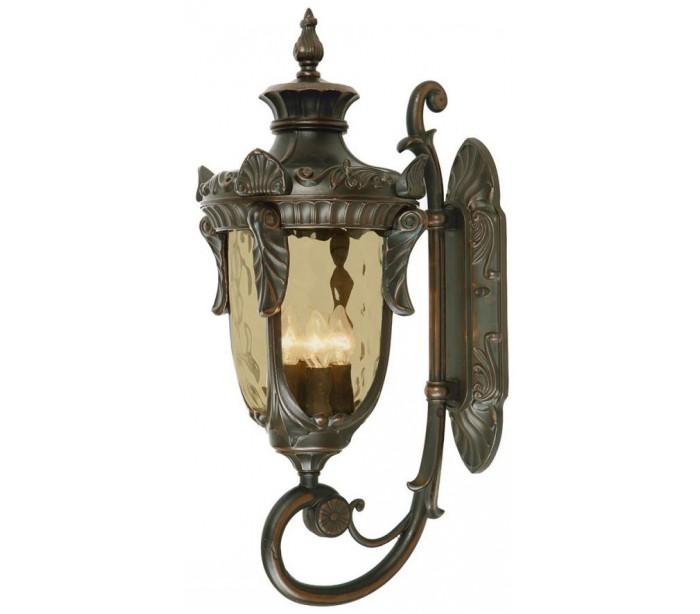 Philadelphia væglampe h64 cm 3 x e14 - antik bronze fra elstead lighting fra lepong.dk