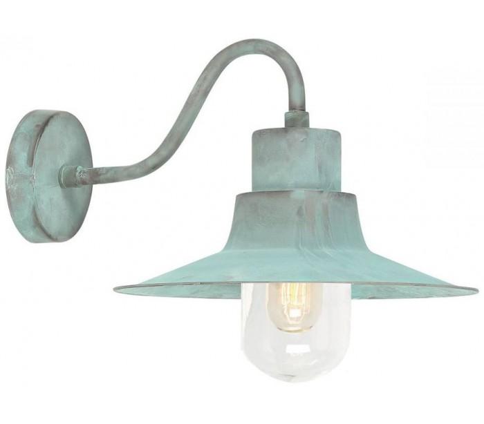 elstead lighting – Sheldon væglampe h24 cm 1 x e27 - verdigris på lepong.dk