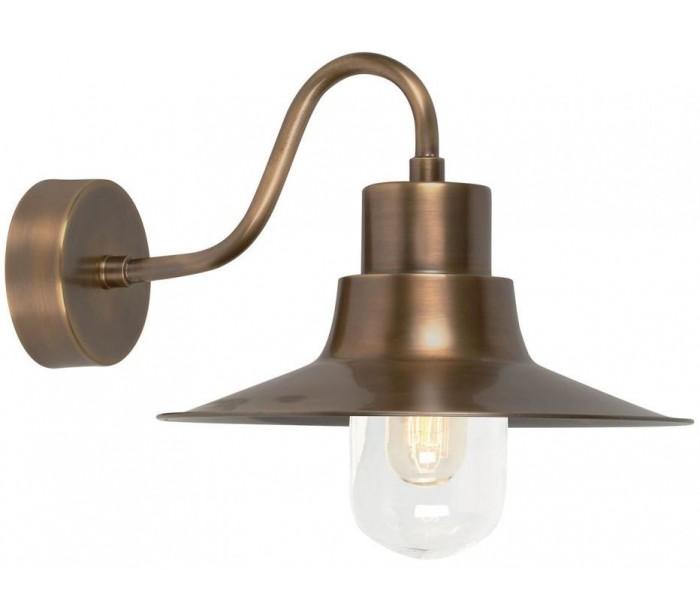 Sheldon Væglampe H24 cm 1 x E27 – Aldret messing fra Elstead Lighting