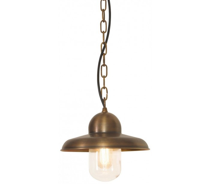 Image of   Somerton Loftlampe Ø24 cm 1 x E27 - Aldret messing