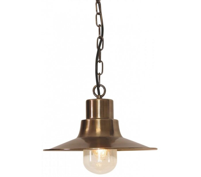 Image of   Sheldon Loftlampe Ø29,5 cm 1 x E27 - Aldret messing