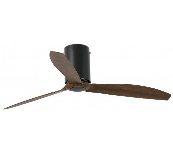 faro barcelona Tube loftventilator ø128 cm - mat sort/brun på lepong.dk