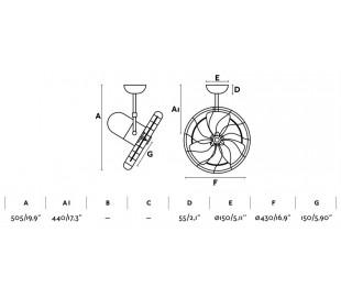 Keiki loftventilator Ø43 cm - Hvid