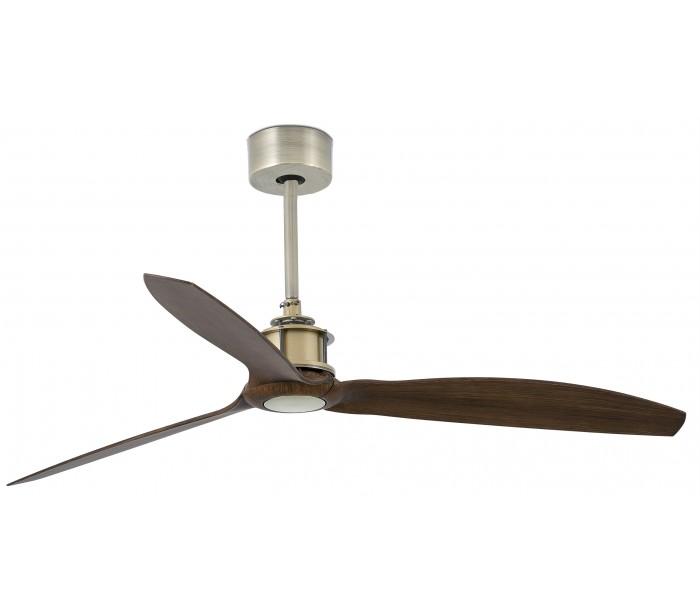 Image of   Just loftventilator Ø128 cm - Antik guld/Brun