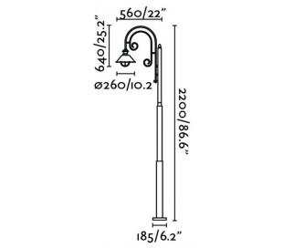 Nautica havelampe H220 cm 1 x E27 - Rust