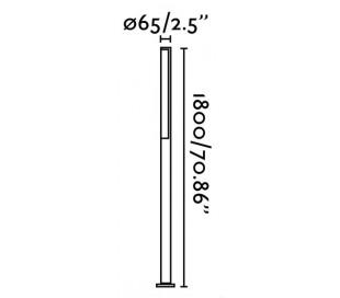Beret havelampe H180 cm 1 x SMD LED 16W - Grå