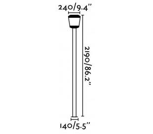 Plaza havelampe H219 cm 1 x SMD LED 24W - Grå