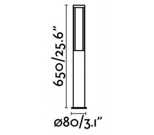 Logar havelampe H65 cm 1 x SMD LED 12W - Grå