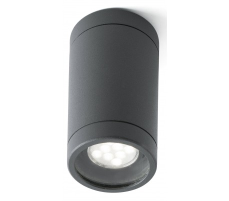 Olot påbygningsspot Ø6 cm 1 x GU10 - Mørkegrå