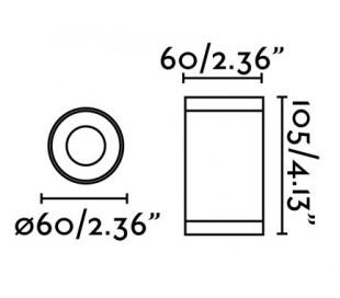 Olot påbygningsspot Ø6 cm 1 x GU10 - Hvid